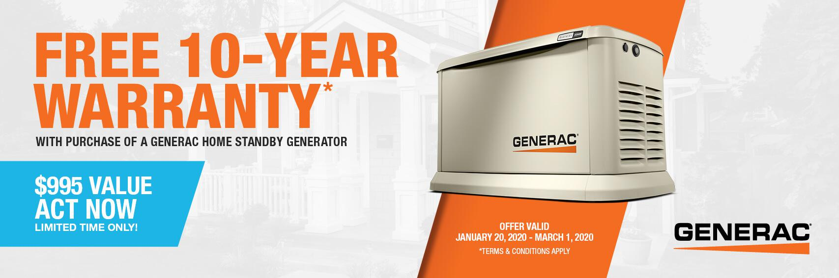 Homestandby Generator Deal | Warranty Offer | Generac Dealer | Coopersburg, PA